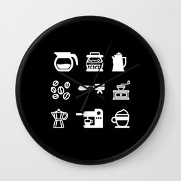Coffee / Barista Wall Clock