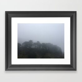 Fog in San Francisco Framed Art Print