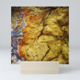 Desert Glow Earth Art Abstract Natural Rock Texture Mini Art Print