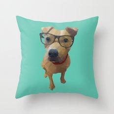 Kane the Staffie Dog Polygon Art Throw Pillow