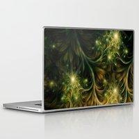 fireflies Laptop & iPad Skins featuring Fireflies by Happi Anarky