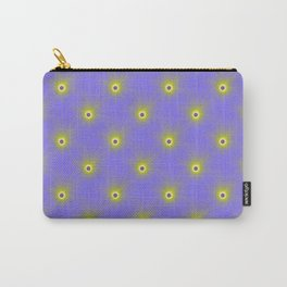 Color Explosion in Yellow and Blue Tiled Carry-All Pouch