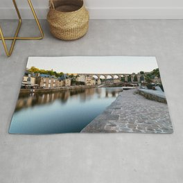The Habour of  Dinan in France Rug