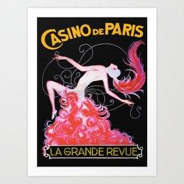 Vintage Paris France Music Hall Ad Art Print