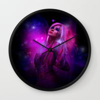 jem Wall Clocks featuring Jem and the Hologram by Claudia Digital Graphics