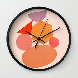 Abstraction_Geometric_Shape_ART_Minimalism_001 Wall Clock