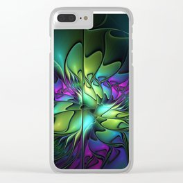 Colorful And Abstract Fractal Fantasy Clear iPhone Case