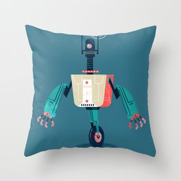 :::Mini Robot-Dynamo::: Throw Pillow