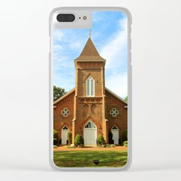 Pointing Towards Heaven Clear iPhone Case