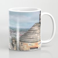 edinburgh Mugs featuring Edinburgh Castle by Christine Workman