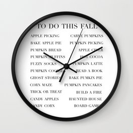 to do this fall list Wall Clock