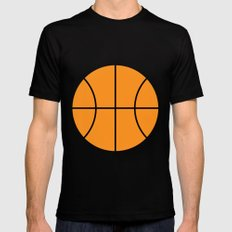 #9 Basketball MEDIUM Black Mens Fitted Tee