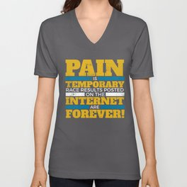 261012 Pain Temp Forever Black 1 073018 Unisex V-Neck