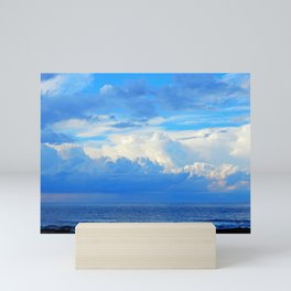 Clouds out at Sea Mini Art Print
