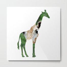 Giraffe Cutout Metal Print