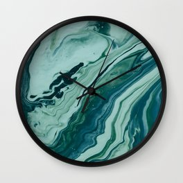 Blue Planet Marble Wall Clock