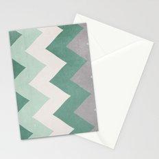 Wintergreen - Chevron Stationery Cards