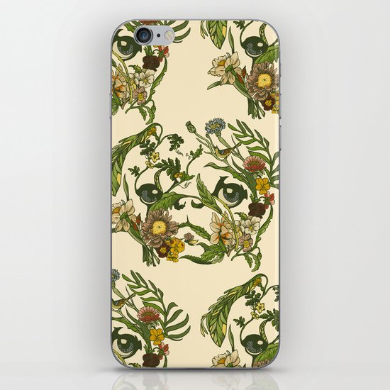 Botanical Pug iPhone & iPod Skin