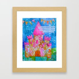 Be Bold, Brave and Strong Framed Art Print