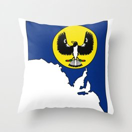 South Australia Map with Flag of South Australia SA Throw Pillow