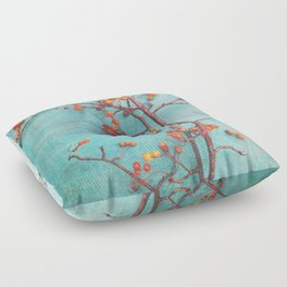 She Hung Her Dreams on Branches Floor Pillow