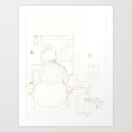 Composition of a composer Art Print