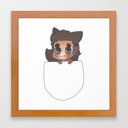 Pocket Derek! Framed Art Print