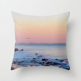 Gliding in Twilight Throw Pillow