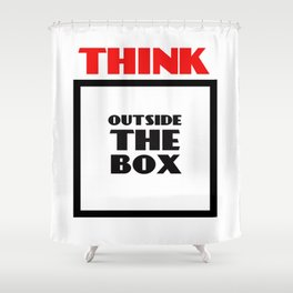 Think Outside The Box 2 Shower Curtain