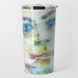 ANTOINE DE SAINT-EXUPERY - watercolor portrait.2 Travel Mug