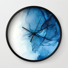 Blue Tides - Alcohol Ink Painting Wall Clock