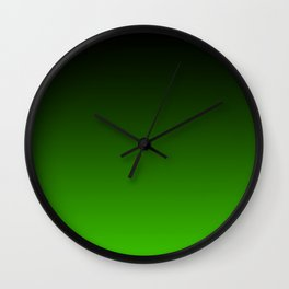 Black and Grass Green Gradient 055 Wall Clock