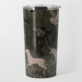 Spooky Forest with Ghosts Travel Mug