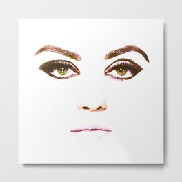 Pieces - Mila Kunis Metal Print