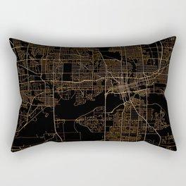 Black nd gold Des Moines map Rectangular Pillow