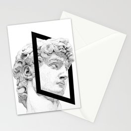 Profile of David statue by Miguel Angel (frame) Stationery Cards