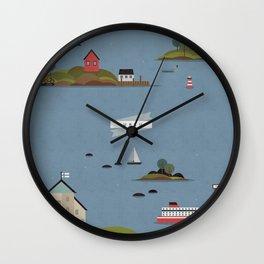 Turku Archipelago Wall Clock