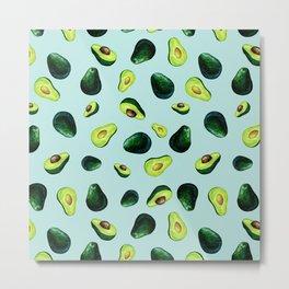 Avocado Pattern Metal Print