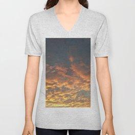 Blazing sunset Unisex V-Neck