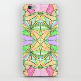 217 - Abstract distressed colourful design iPhone Skin