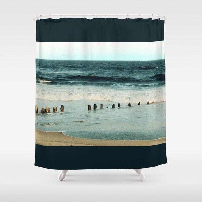 Pier 9 Brooklyn Coney Island Shower Curtain By Ariadne