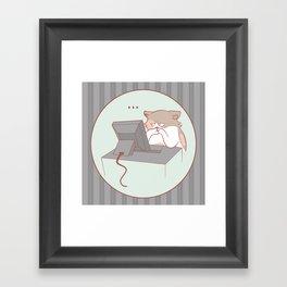 Hrm. Framed Art Print