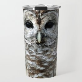 Barred Owl Watching Travel Mug