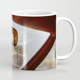 Driving in Rural Scandinavia - Closeup of Wild Landscape in Car Coffee Mug