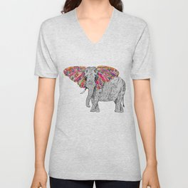 Bella The Happy Butterphant Unisex V-Neck
