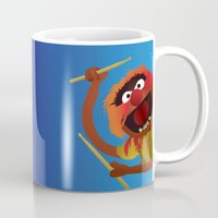 muppets Mugs featuring Animal - Muppets Collection by Bryan Vogel