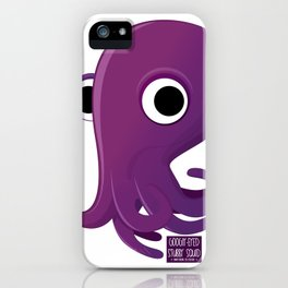 Googly-Eyed Stubby Squid iPhone Case
