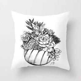 Succulents & Cactus Throw Pillow