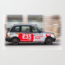 Taxi in London city Rug
