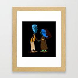 Sweat Couple Framed Art Print